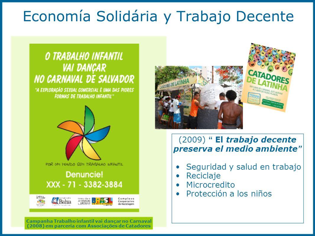 Economía Solidária y Trabajo Decente