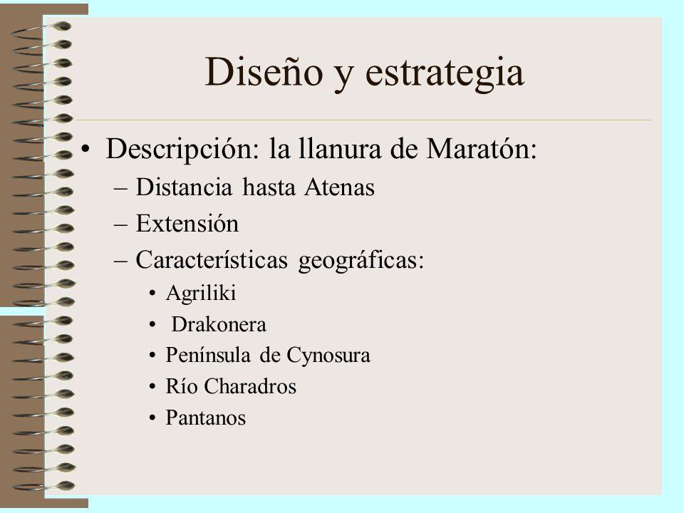 Diseño y estrategia Descripción: la llanura de Maratón: