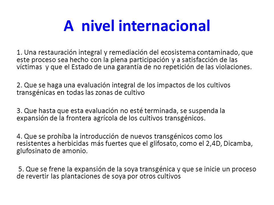 A nivel internacional