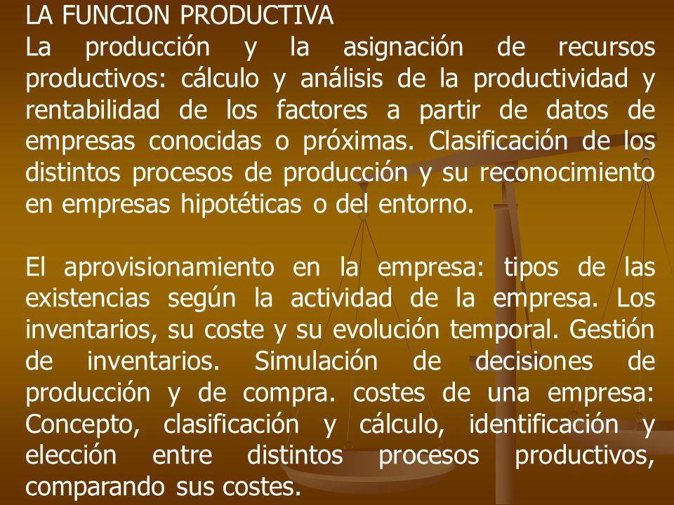 LA FUNCION PRODUCTIVA