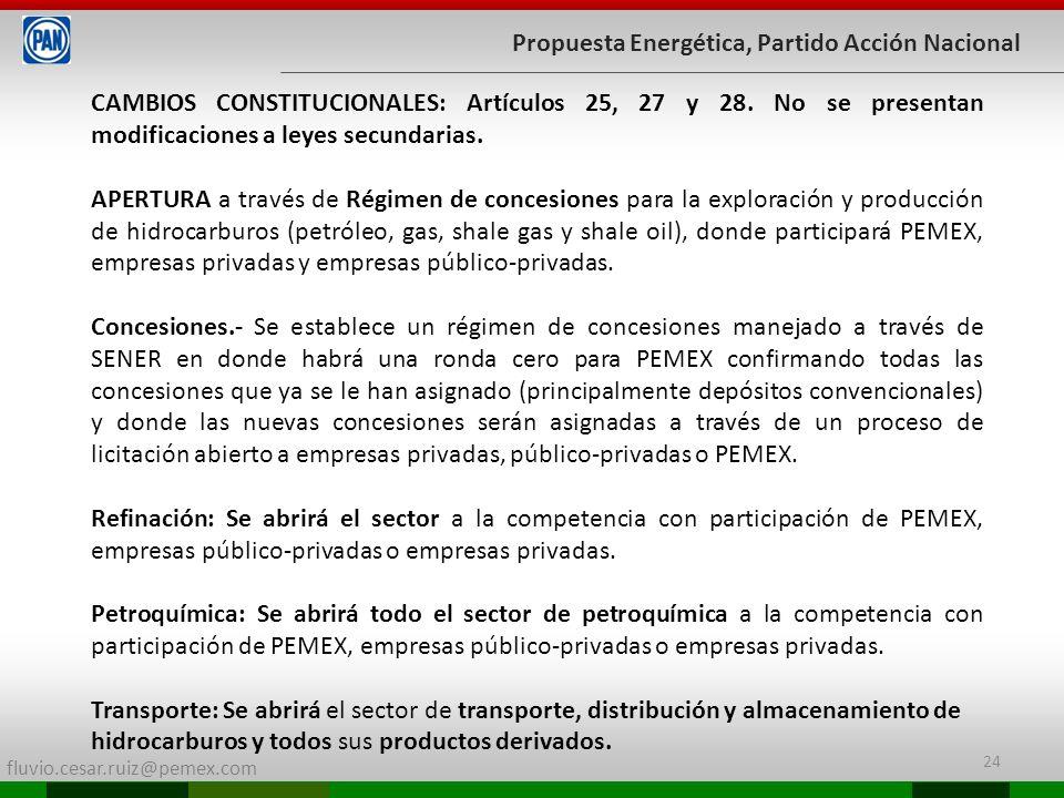 Propuesta Energética, Partido Acción Nacional