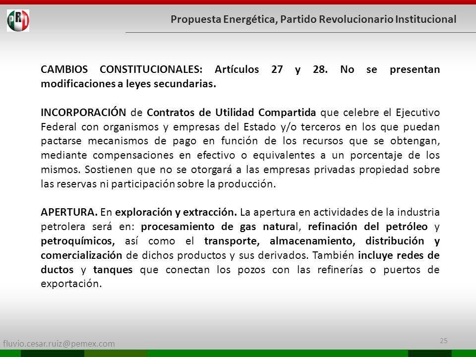 Propuesta Energética, Partido Revolucionario Institucional