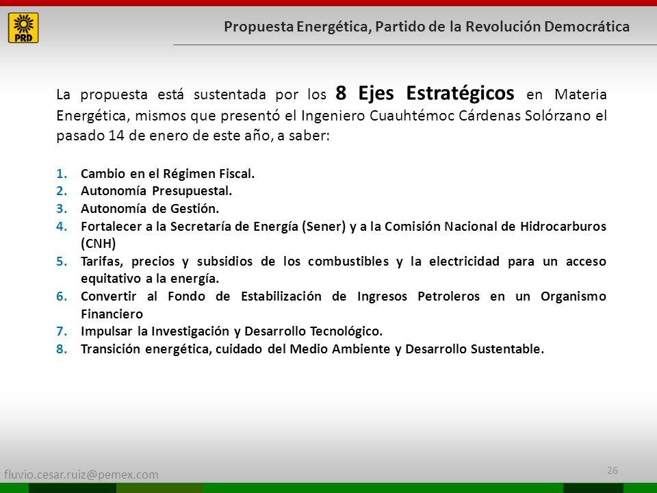 Propuesta Energética, Partido de la Revolución Democrática