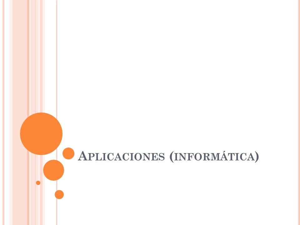 Aplicaciones (informática)