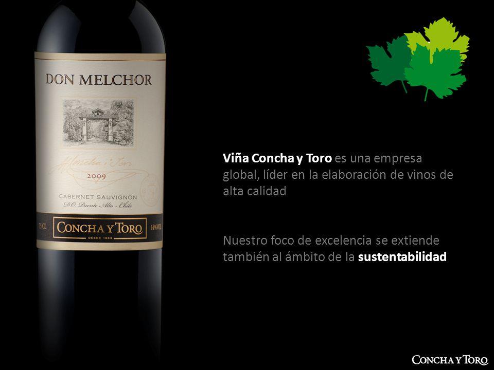 Viña Concha y Toro es una empresa global, líder en la elaboración de vinos de alta calidad