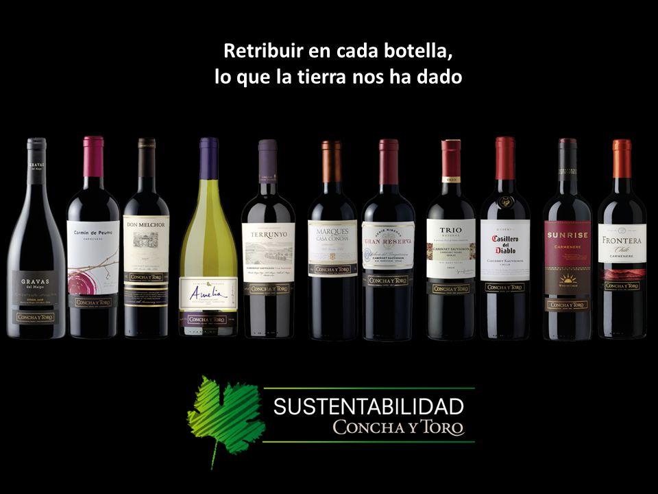 Retribuir en cada botella, lo que la tierra nos ha dado