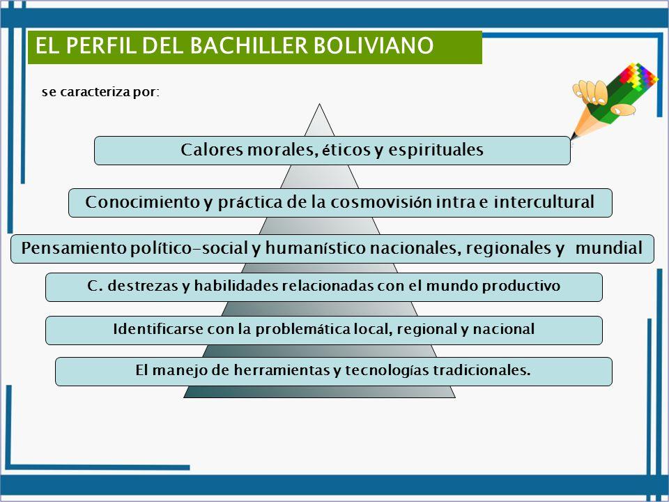 EL PERFIL DEL BACHILLER BOLIVIANO