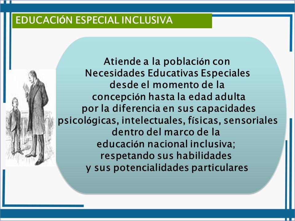 EDUCACIÓN ESPECIAL INCLUSIVA