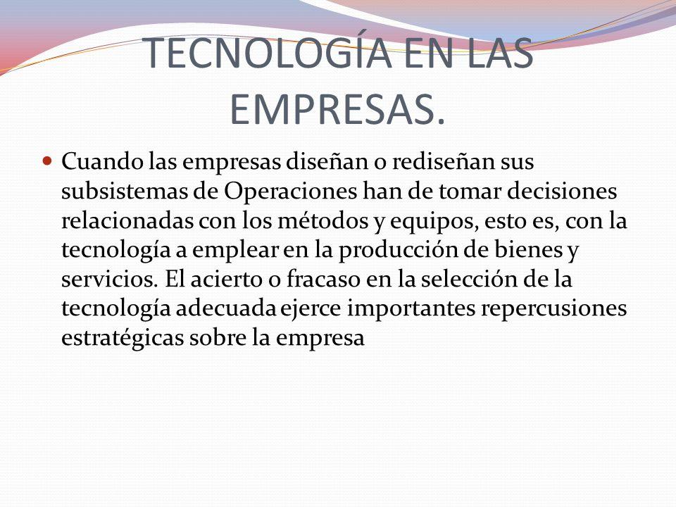 TECNOLOGÍA EN LAS EMPRESAS.
