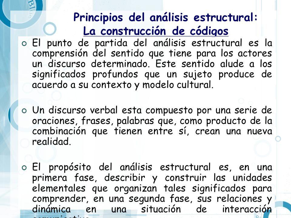 Principios del análisis estructural: La construcción de códigos