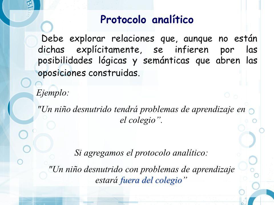 Protocolo analítico