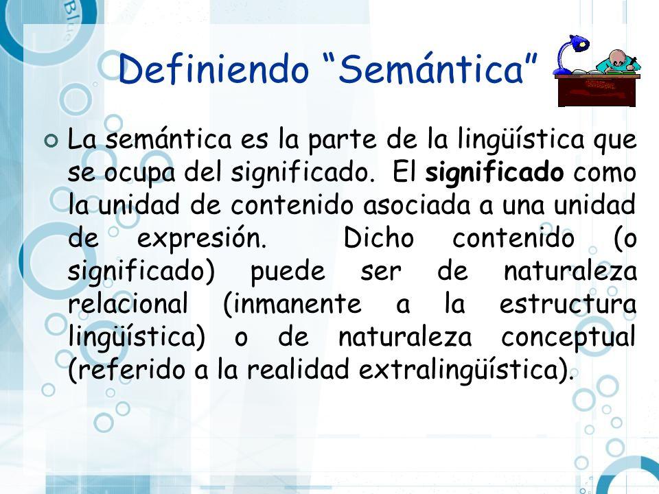 Definiendo Semántica