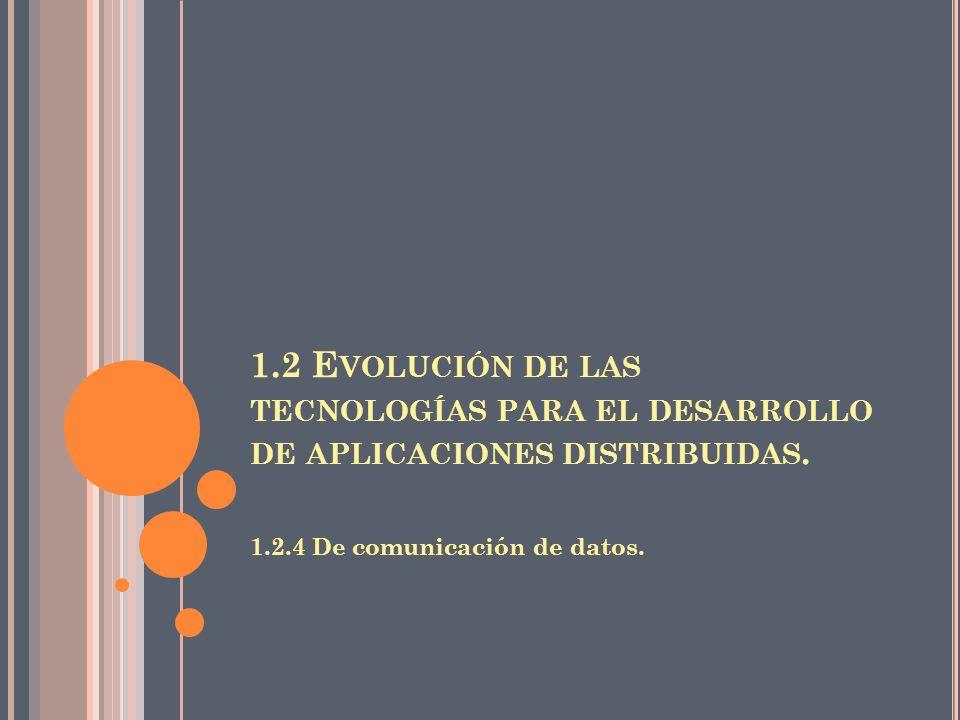 1.2 Evolución de las tecnologías para el desarrollo de aplicaciones distribuidas.