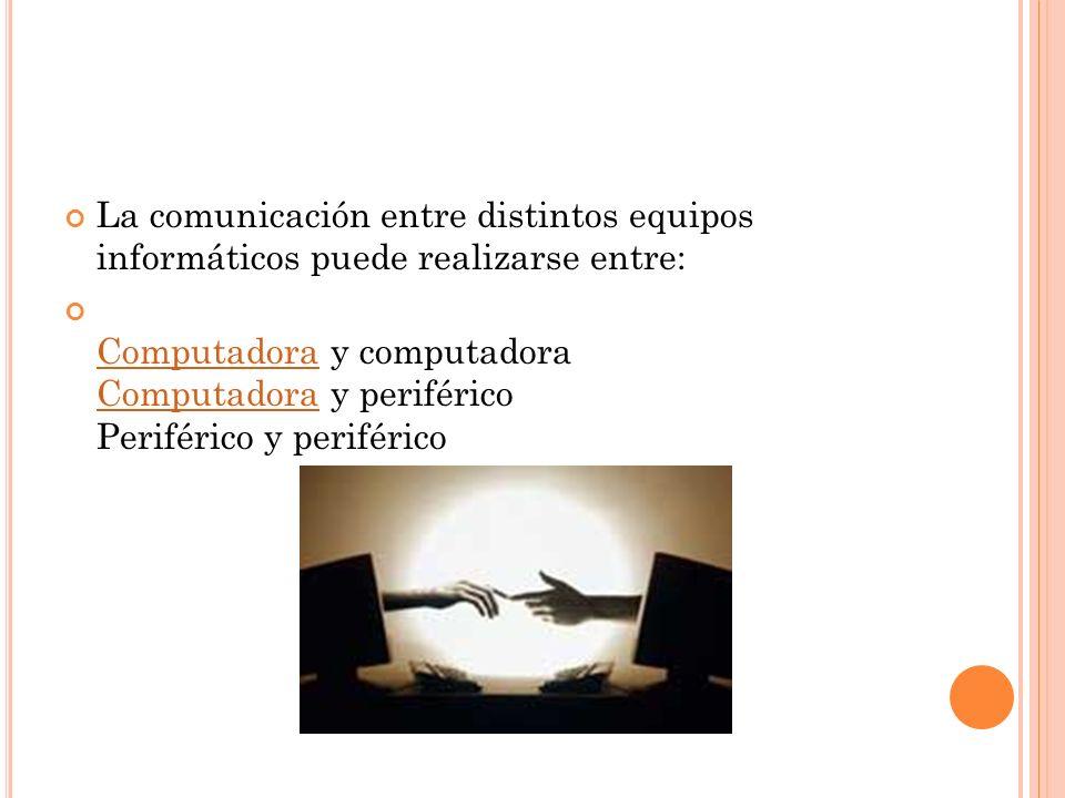 La comunicación entre distintos equipos informáticos puede realizarse entre: