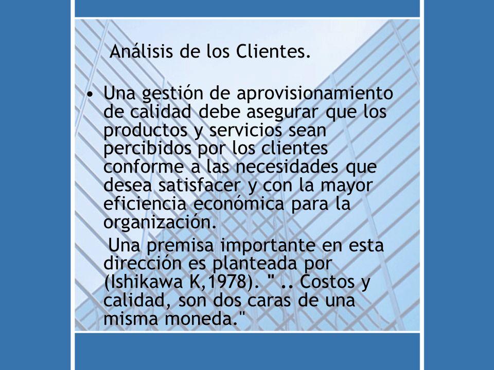 Análisis de los Clientes.