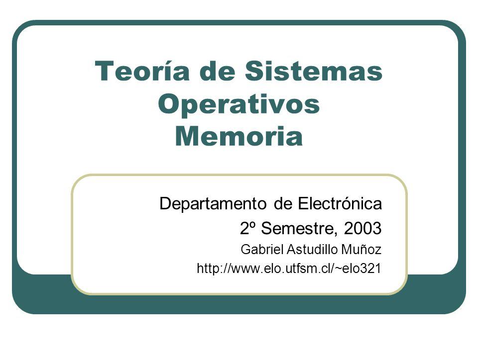 Teoría de Sistemas Operativos Memoria