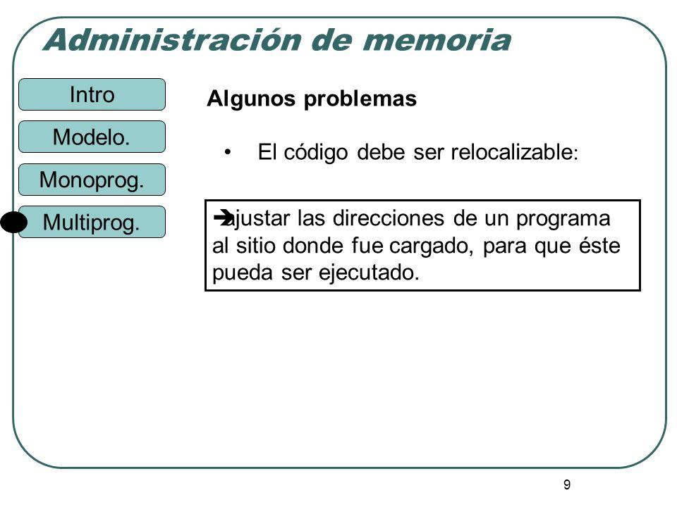 Algunos problemasEl código debe ser relocalizable: