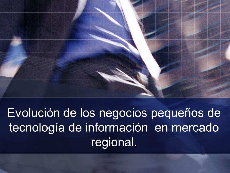 Evolución de los negocios pequeños de tecnología de información en mercado regional.