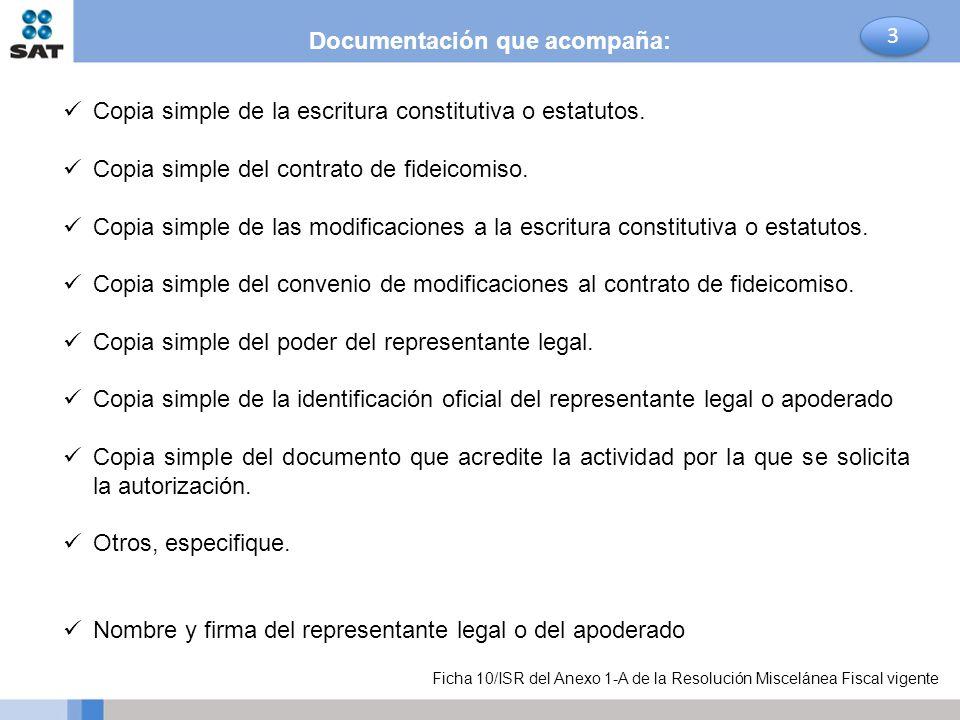 Documentación que acompaña: 3
