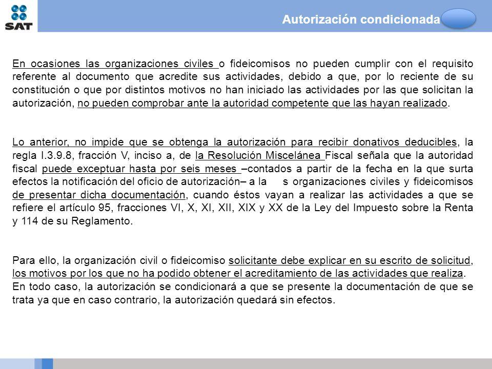 Autorización condicionada