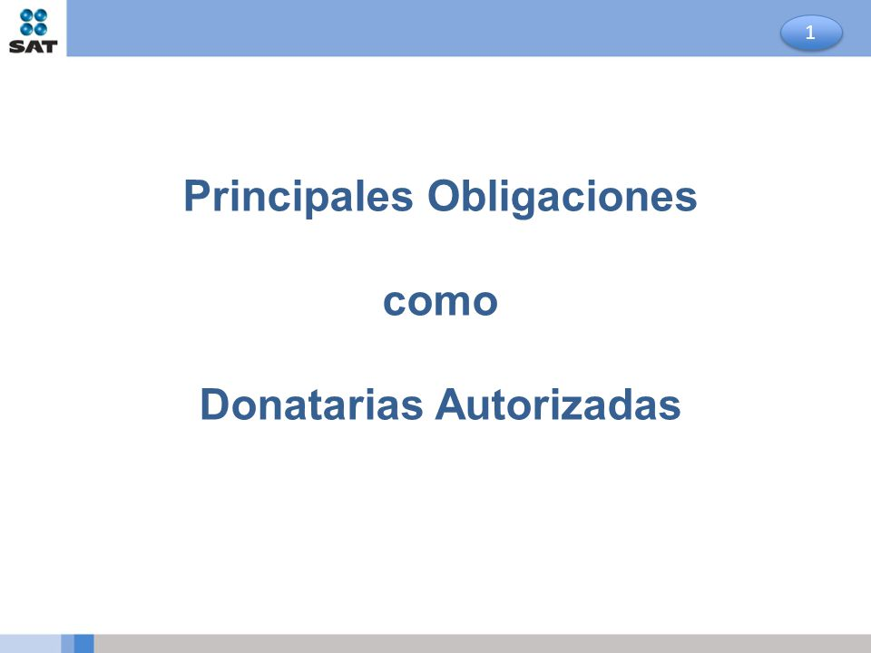 Principales Obligaciones Donatarias Autorizadas