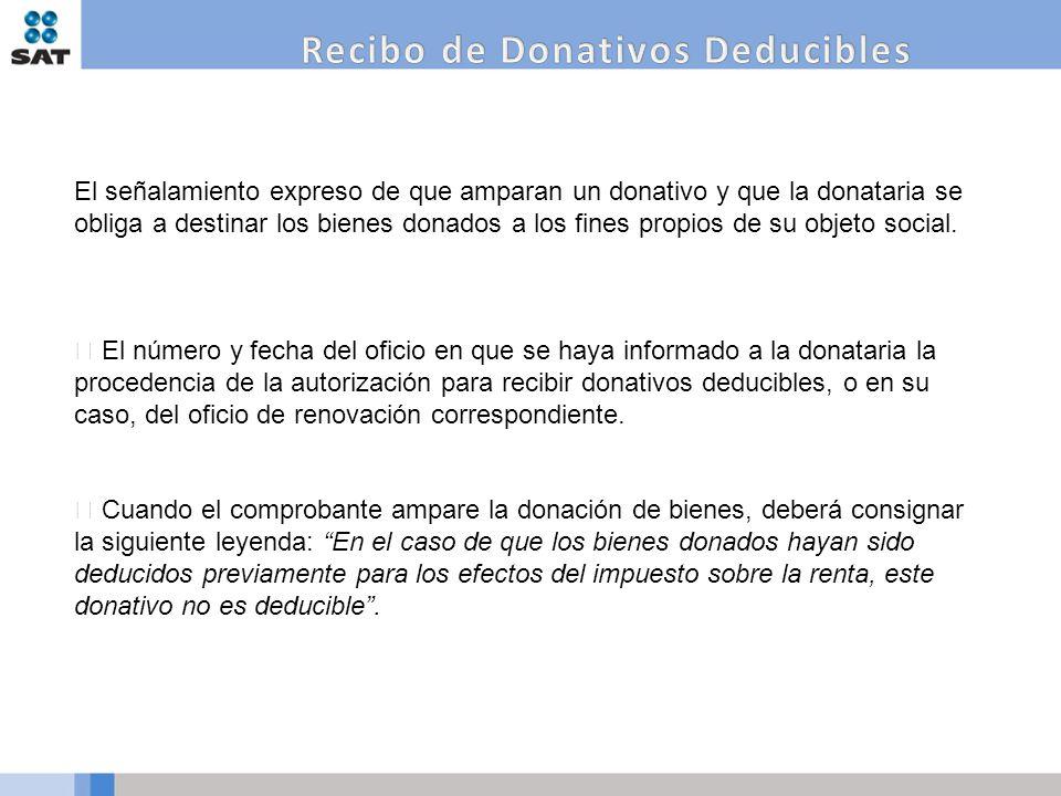 Recibo de Donativos Deducibles