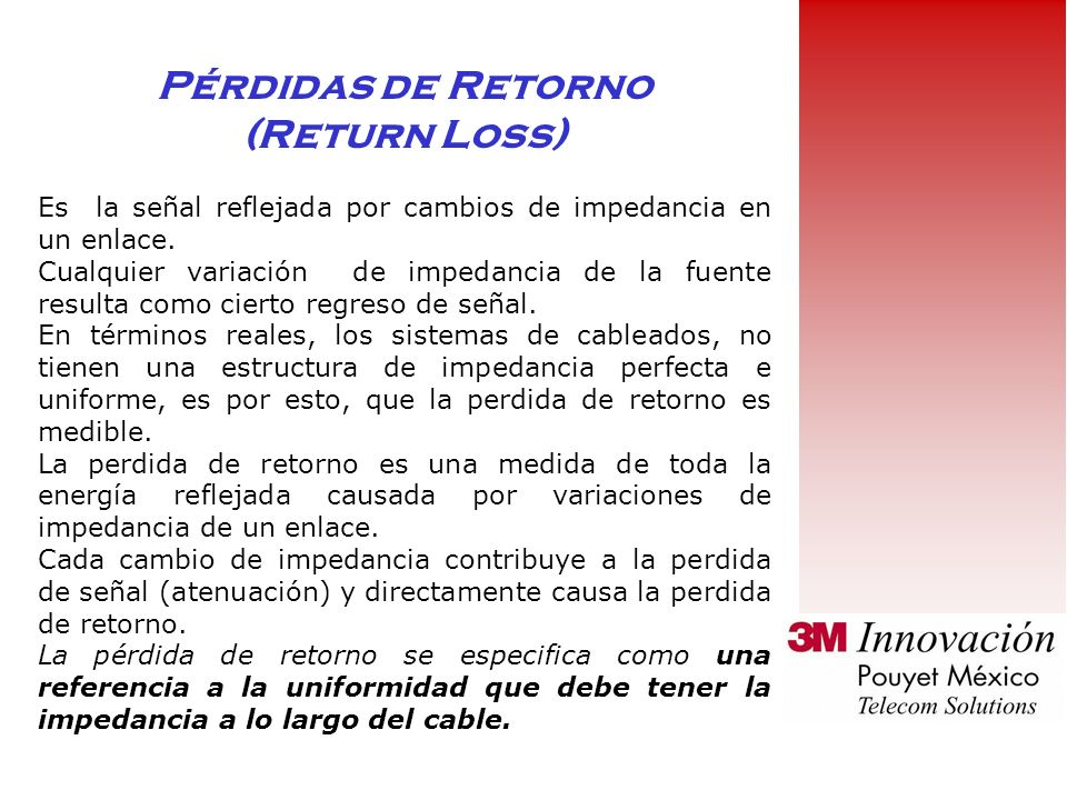 Pérdidas de Retorno (Return Loss)
