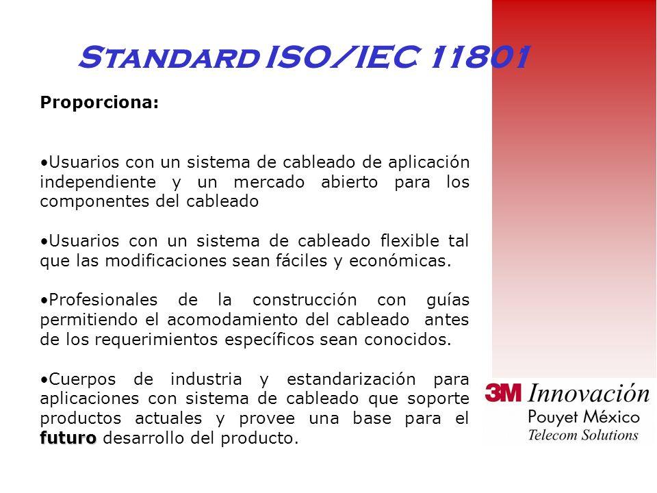 Standard ISO/IEC 11801 Proporciona: