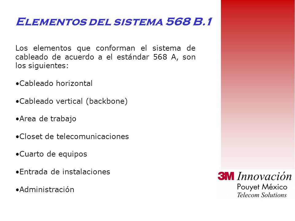 Elementos del sistema 568 B.1