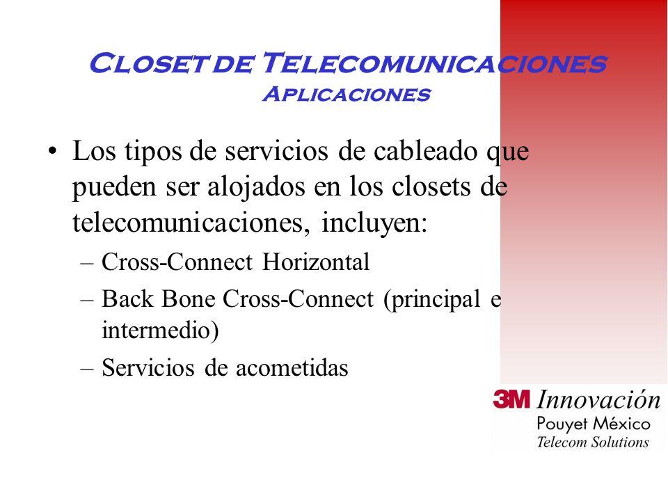 Closet de Telecomunicaciones Aplicaciones