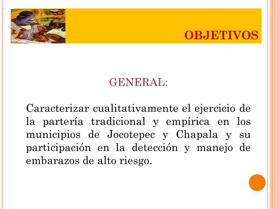 . OBJETIVOS. . . GENERAL: