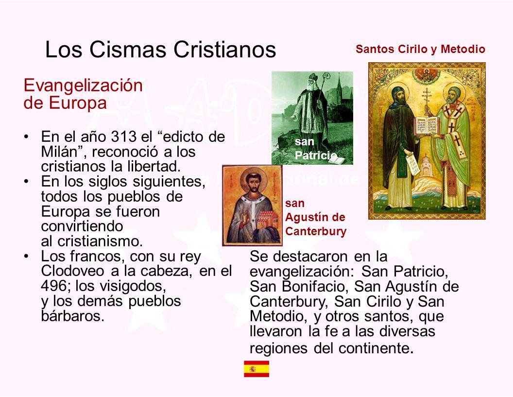 Los Cismas Cristianos Evangelización de Europa
