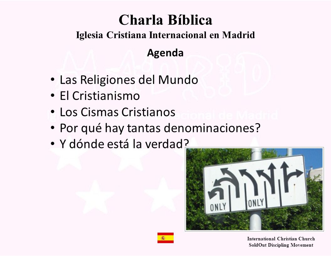Charla Bíblica Las Religiones del Mundo El Cristianismo