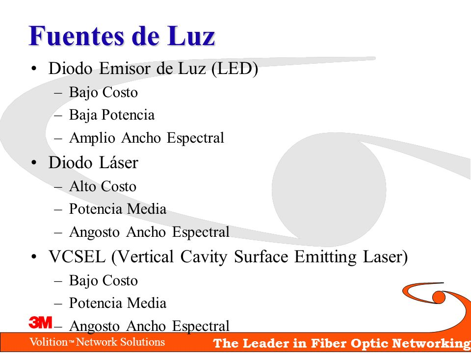 Fuentes de Luz Diodo Emisor de Luz (LED) Diodo Láser