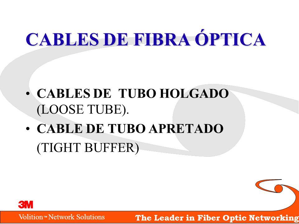CABLES DE FIBRA ÓPTICA CABLES DE TUBO HOLGADO (LOOSE TUBE).
