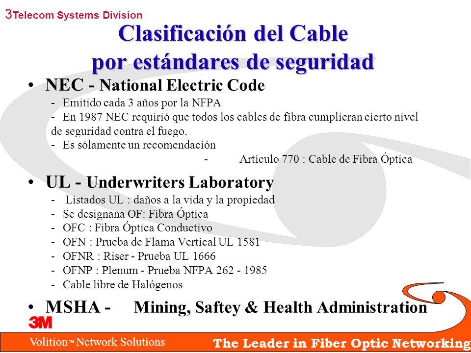 Clasificación del Cable por estándares de seguridad