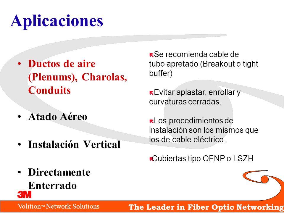 Aplicaciones Ductos de aire (Plenums), Charolas, Conduits Atado Aéreo
