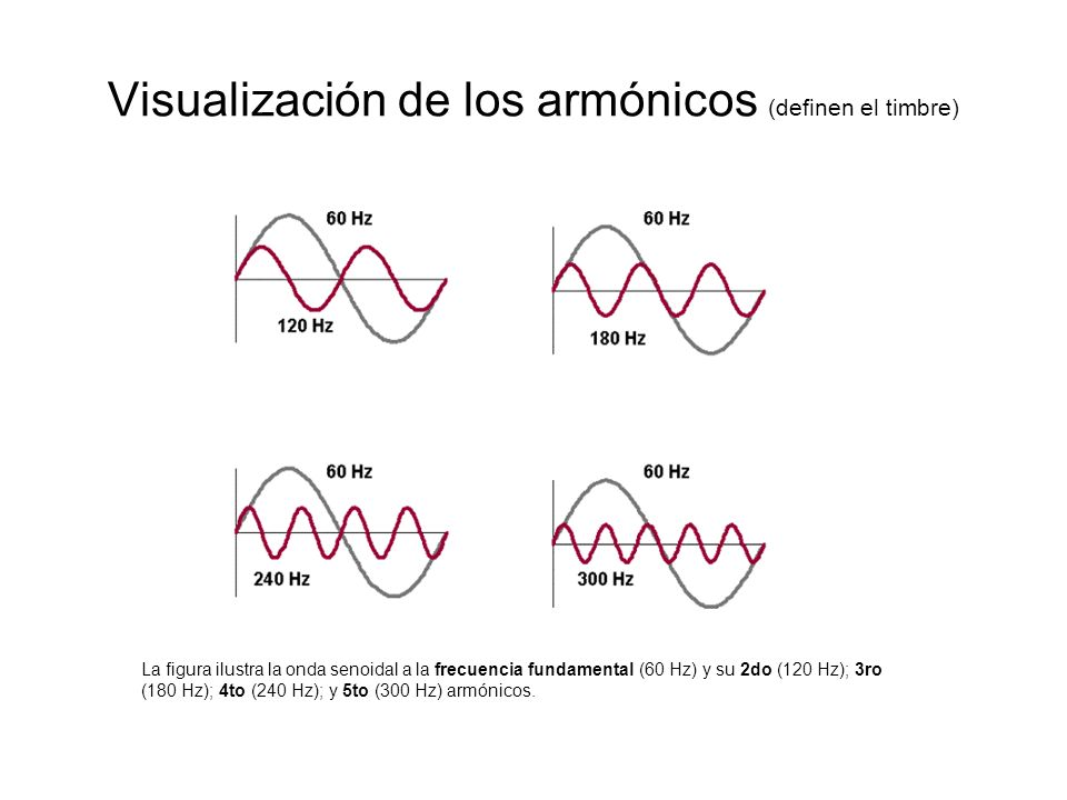 Visualización de los armónicos (definen el timbre)