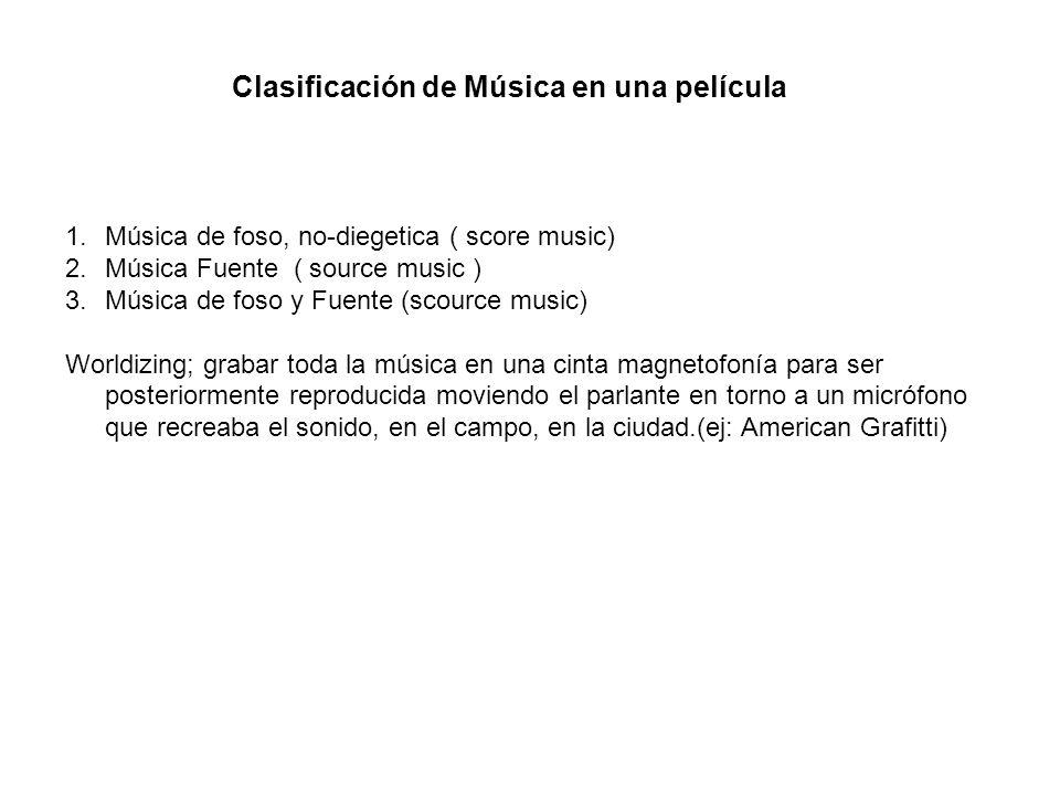 Clasificación de Música en una película