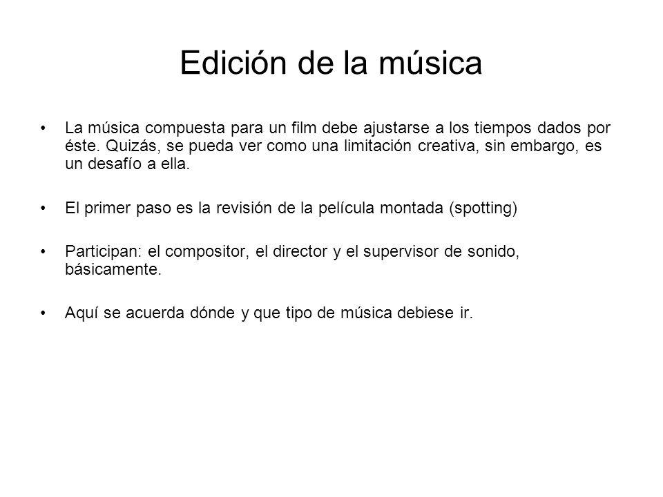 Edición de la música