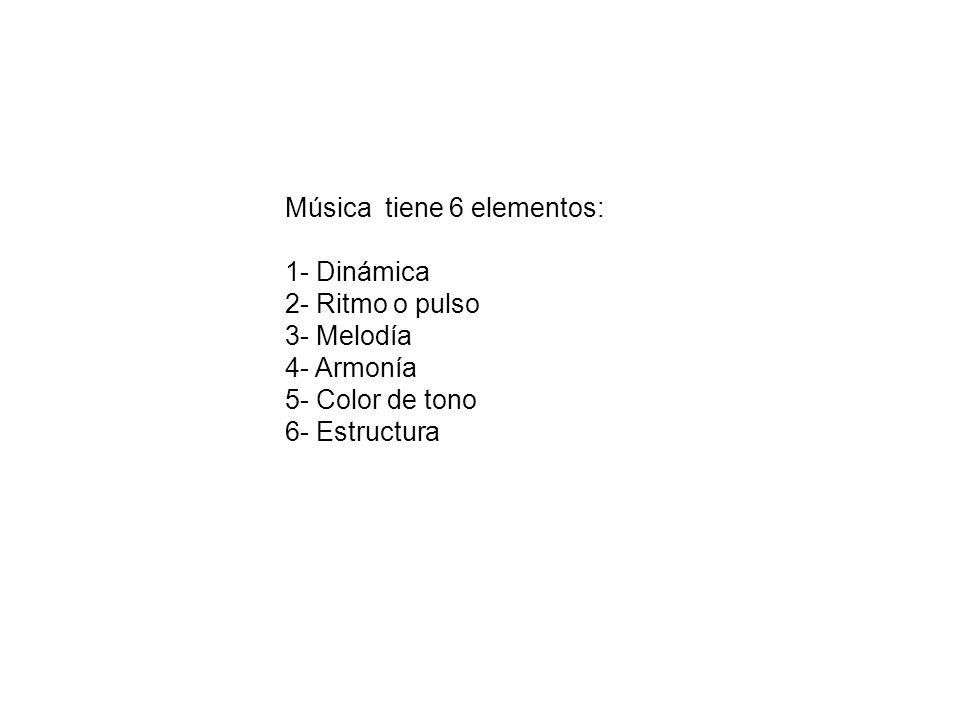 Música tiene 6 elementos: