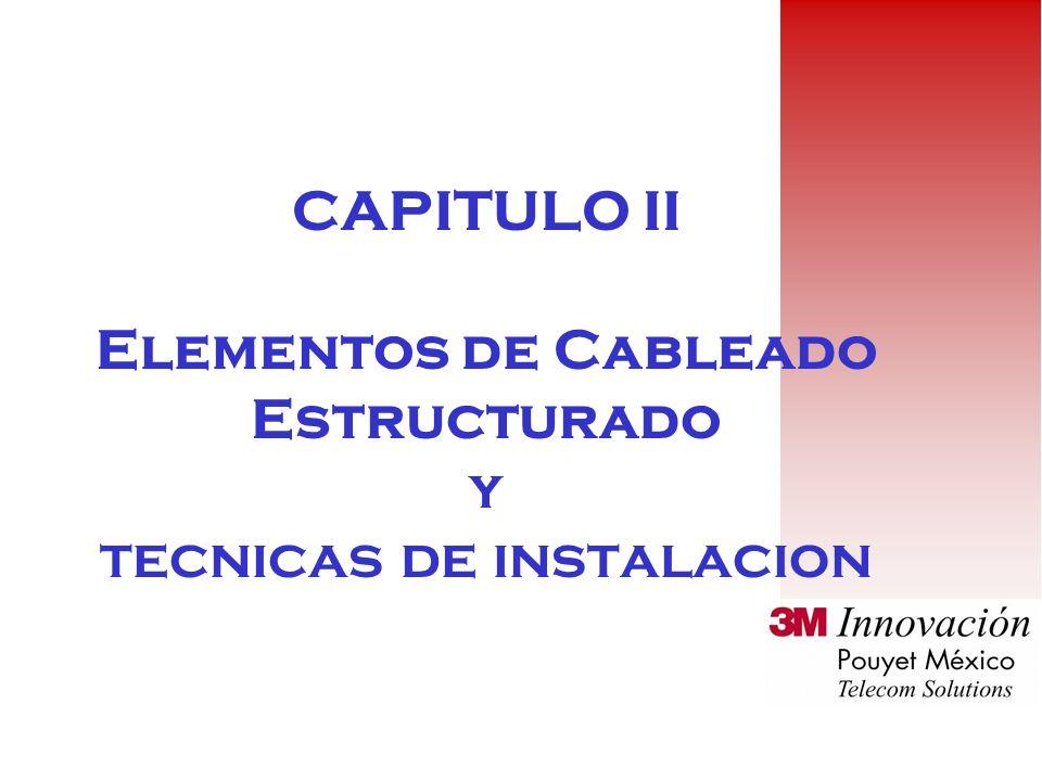 CAPITULO II Elementos de Cableado Estructurado y tecnicas de instalacion