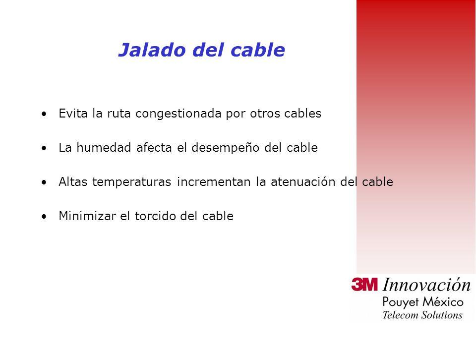 Jalado del cable Evita la ruta congestionada por otros cables