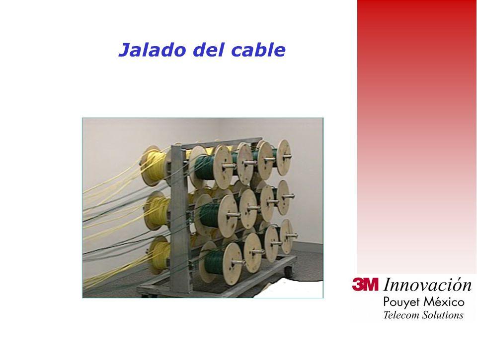 Jalado del cable