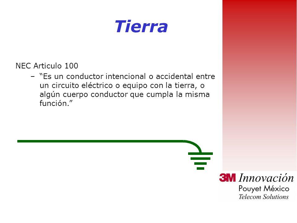 Tierra NEC Articulo 100.