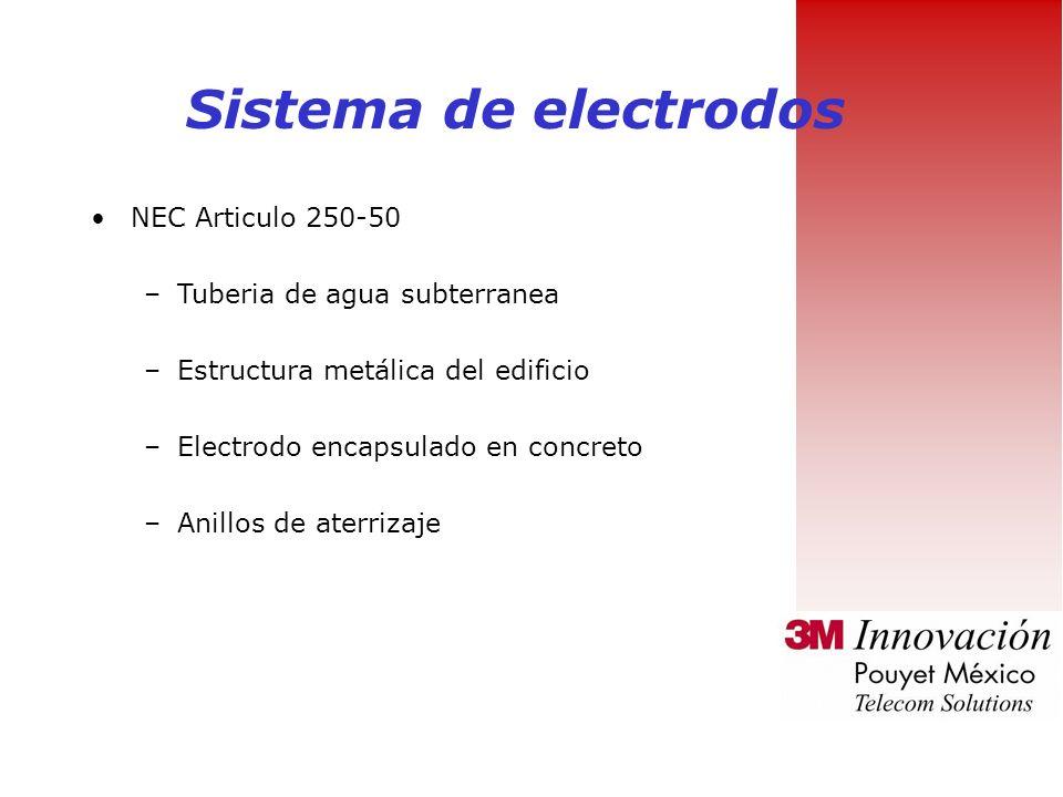 Sistema de electrodos NEC Articulo 250-50 Tuberia de agua subterranea