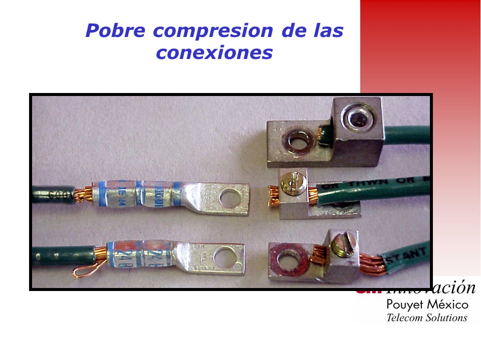 Pobre compresion de las conexiones