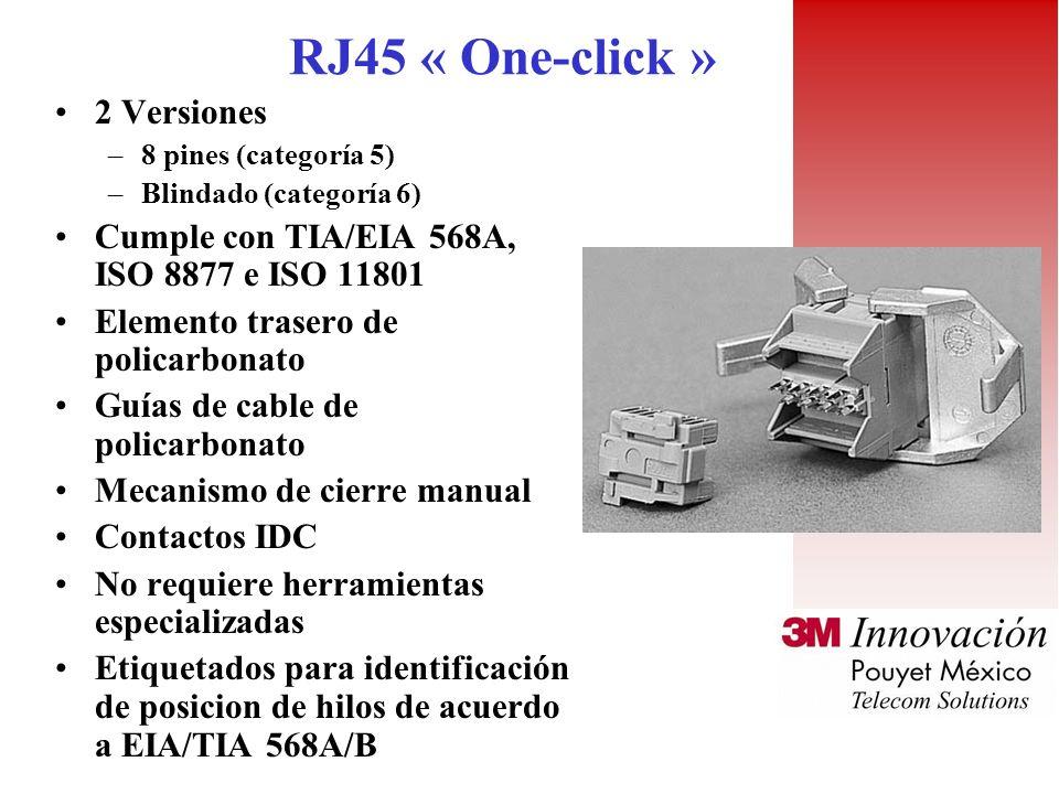 RJ45 « One-click » 2 Versiones