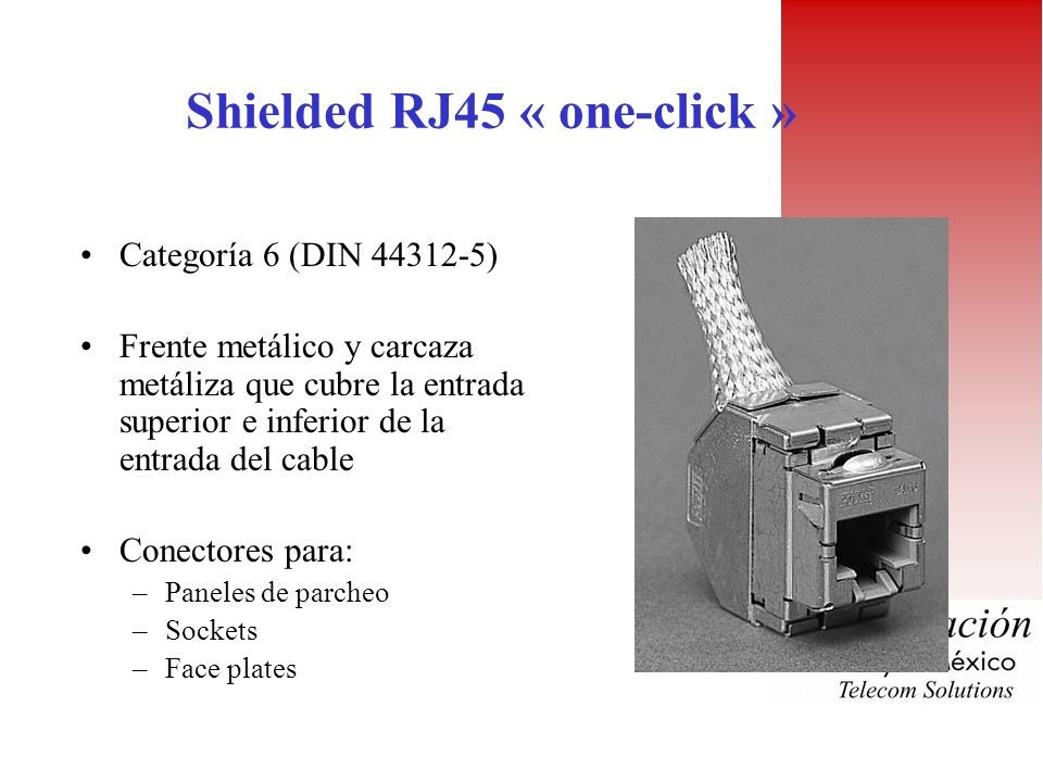 Shielded RJ45 « one-click »