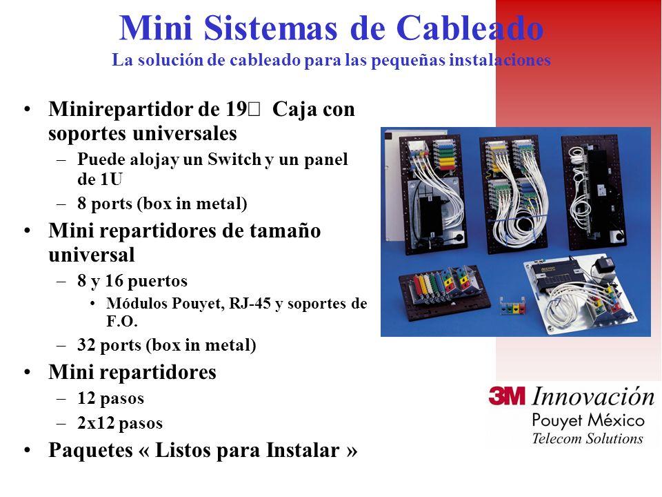 Mini Sistemas de Cableado La solución de cableado para las pequeñas instalaciones